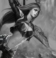 Katarina of LOL - WIP by leemarej