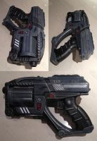 Mass Effect Predator Shuriken mashup blaster mod by GirlyGamerAU