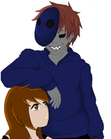 Eyeless Jack and Mar  - Base by PsychoHichi815 by AllTheLittleWonders