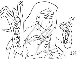 Wonder Woman Lineart (WIP) by F-Stormer-3000