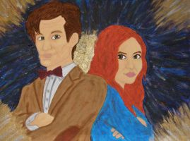 Pond and The Doctor by JediJulie