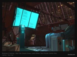 Hacker's Lair in 3D by shubacca
