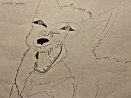Tsume Snarling by forgivenfate