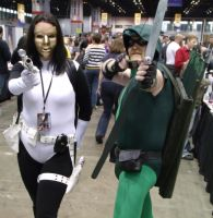 Madame Masque and Green Arrow @ C2E2 2012 by MonkeySquadOne