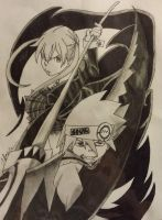Maka and Soul from Soul Eater by Crimson-Ripper