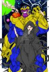 Thanos and Death by Paolo Pantalena (Colored) by TheComicBookMaster