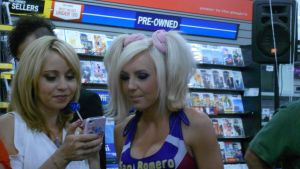 Tara Strong and Jessica Nigri At Game Stop by xxXSketchBookXxx