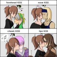 Mistletoe Event Kisses :D by Cold-Creature