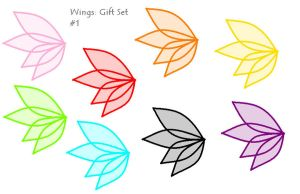 Wings: Gift set #1 by pixiepearl