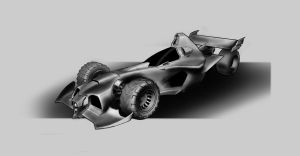 Batmobile sketch by AndrewCM