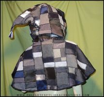 Hippie Patchwork Elf Hoodie Cape 4 by RedheadThePirate