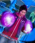 InFamous Second Son - Delsin Rowe Neon power by PsychoHidan