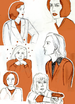 Scully Doodles by ragnarok-and-roll