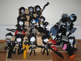 Black Rock Shooter Dolls by bennitorimanga