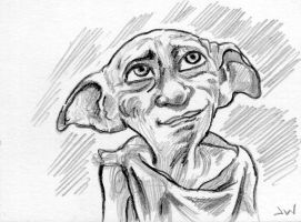 Dobby Sketch Card ACEO by Stungeon
