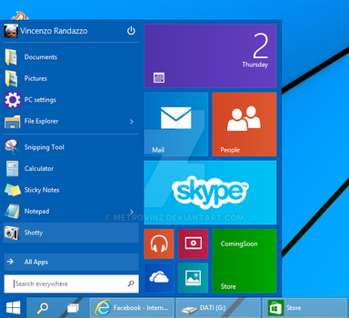 Windows 10 Technical Preview by metrovinz