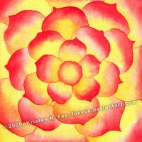 Flame Tip Flower Watercolor by foxvox