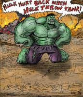 Hulk Hurts His Back by scottynobody