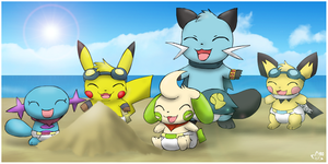 Baby PMD Summer Fun by pichu90