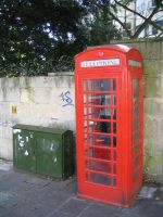 Red English Phone Box - Stock by aphasia100stock