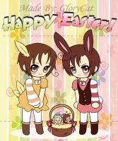 Hetalia Easter Greetings by GloryCat