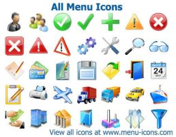 All Menu Icons by shockvideo