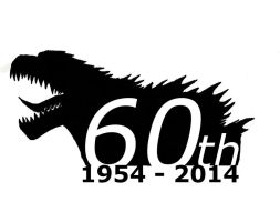 Godzilla 60th Birthday Logo by SaintNick14