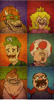 Super Mario Meme Faces by davidprogamer64