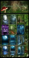 Fantasy Moonlight backgrounds by moonchild-ljilja