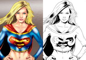 Supergirl sideXside by TraitorLegion