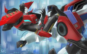 Jazz and Sideswipe 5 by Aiuke