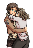 Commission - Eren and Ash by SonicRocksMySocks