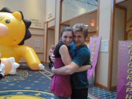 Caitlin and Vic Mignogna Hug by LycheeBerry17