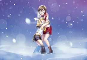 [{Fanart} commisson] Freezing Meiko and Rin by doblemjwn