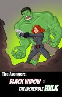 Black Widow and Hulk Assembled. by scootah91