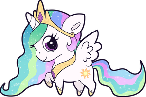 Chibi Celestia by Squeemishness