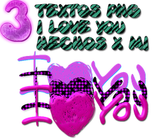 3 png I love you by rubyok