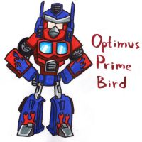 Optimus Prime Bird by YouCanDrawIt