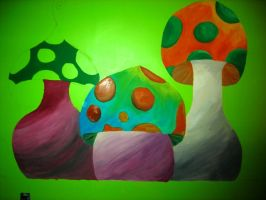 shrooms in the making by Jessie-Jo