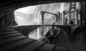 The Dwarves' Aqueduct by GiuseppeParisi