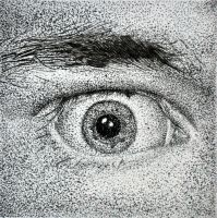 Eye ink stippling by Rollingboxes