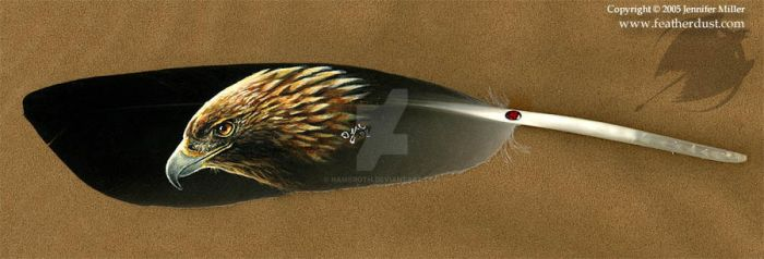 Golden Eagle Feather by Nambroth