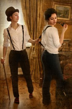 Holmes and Watson cosplay VII by MigraineSky