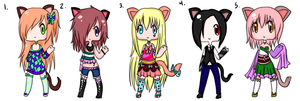 offer to adopt (points) Nekomimi set OPEN by Gepdeb