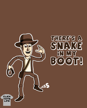Indiana Jones and The Snake in the Boot by SonicXfan007