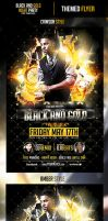 Black and Gold Night Flyer Template by odindesign