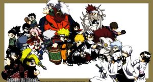 naruto and bleach by kapao