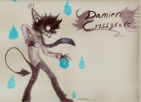Damien Crossgrave watercolor by nightmarn