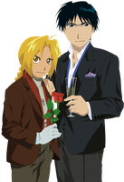 Edward Elric and Roy Mustang by Narusailor