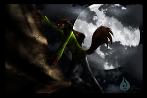 Point Commission:  Werewolf night... by Venetia-the-Hedgehog